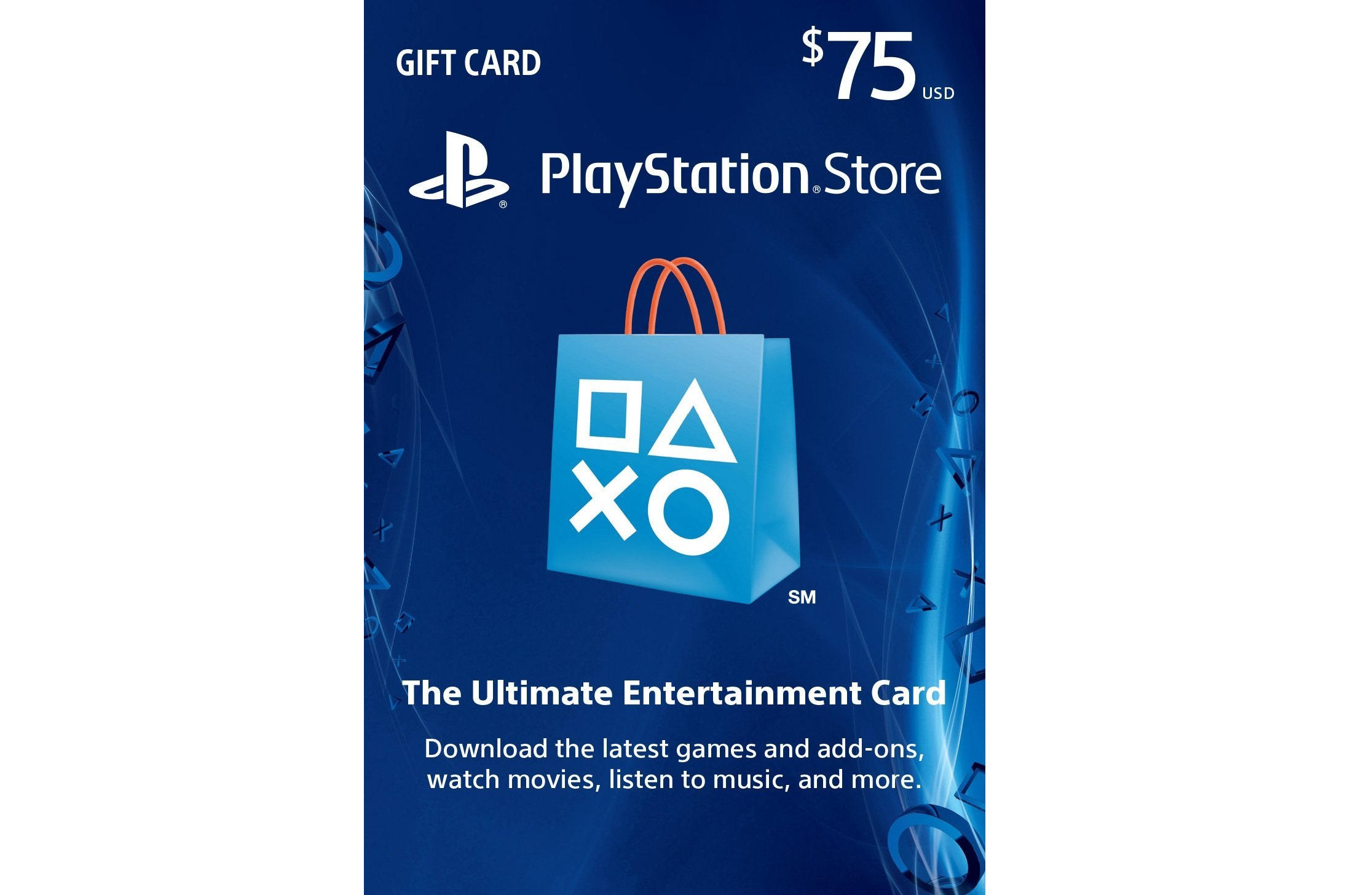 gift card playstation store us 75 breaking station. Black Bedroom Furniture Sets. Home Design Ideas